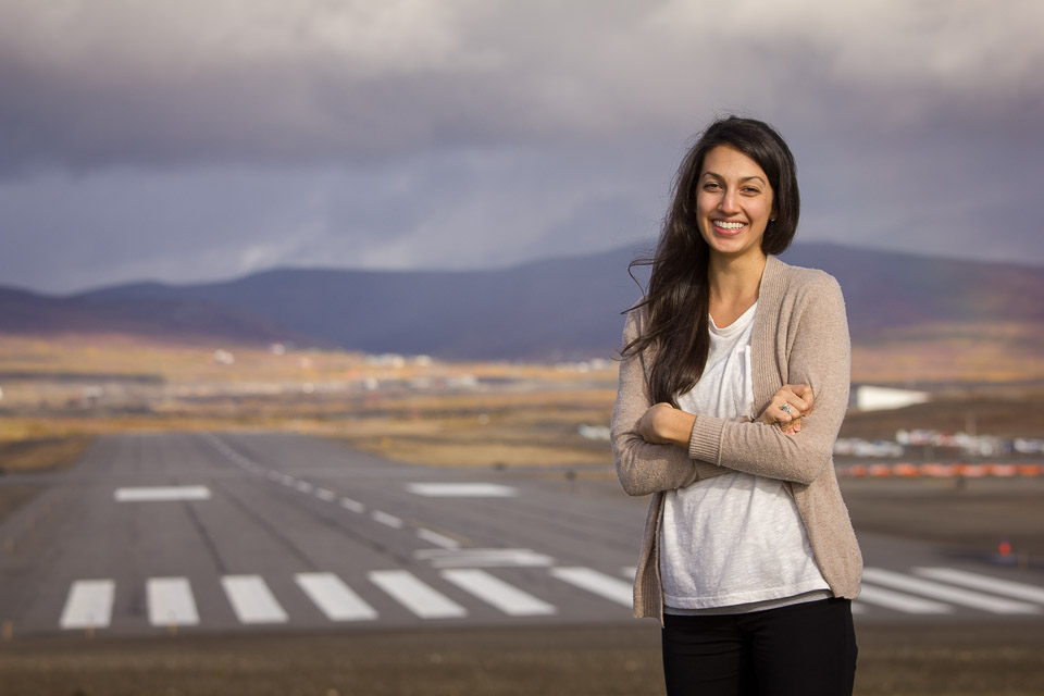 Margaret at the Nome Airport