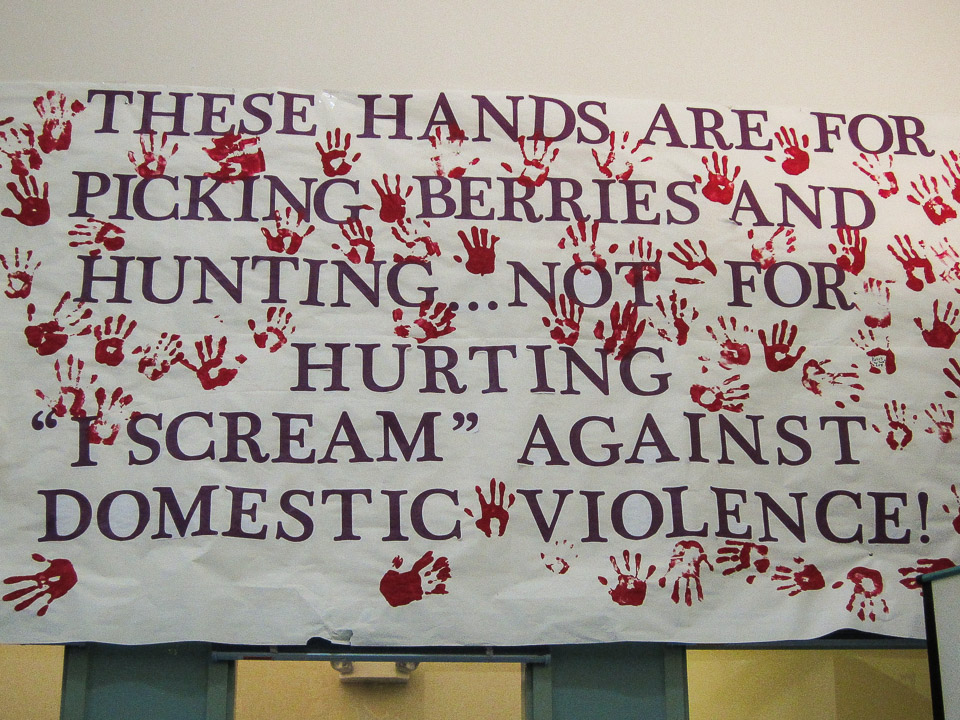 Hands against domestic violence