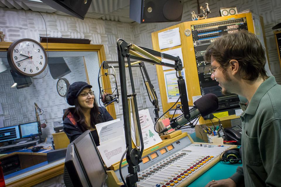 Daynee and Lucus in Studio A.