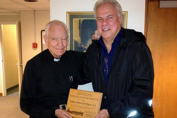 Ric Schmidt and Father Armand Nigro