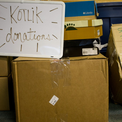 Storm relief for Kotlik in KNOM lobby