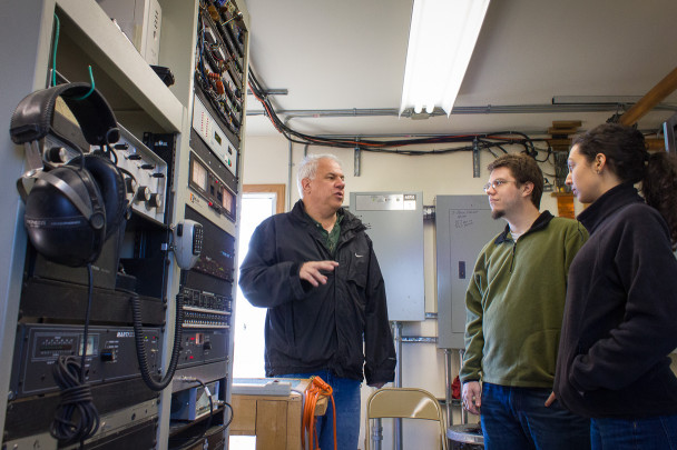 Ric takes Lucus and Margaret on a transmitter tour