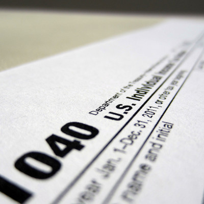 IRS 1040 tax return