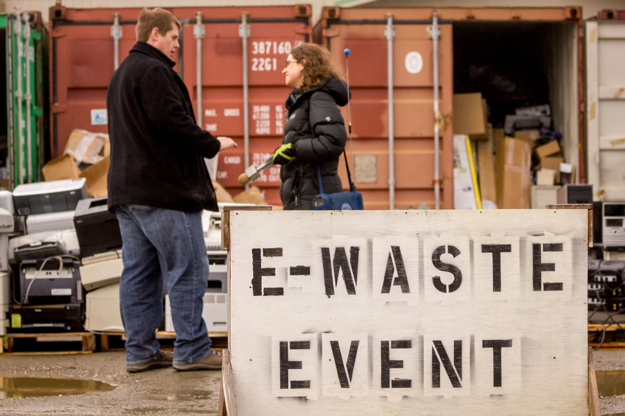 Matt and Anna Rose at e-Waste Event