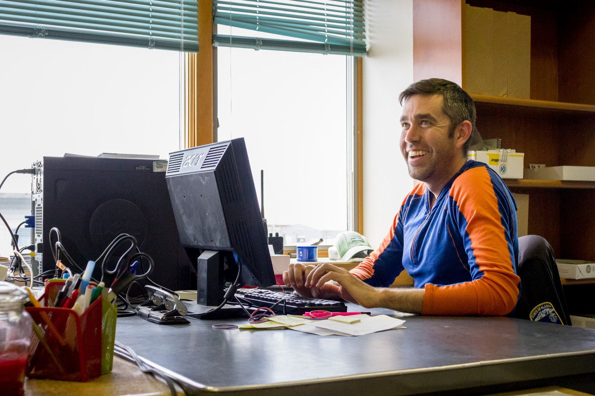Jeff Collins in the business office