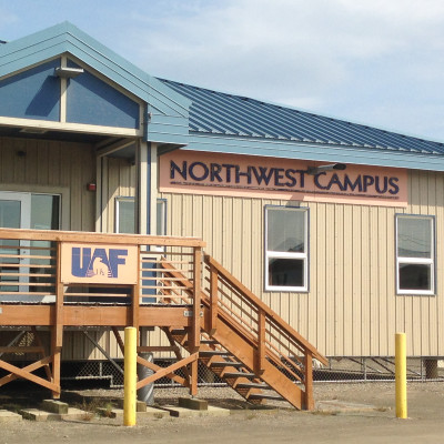 Nome's Northwest Campus main entrance. Photo: Matthew F. Smith, KNOM.