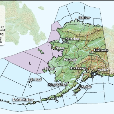 Marine Hazards Map issued by the National Weather Service, Alaska Regional District July 16, 2014.