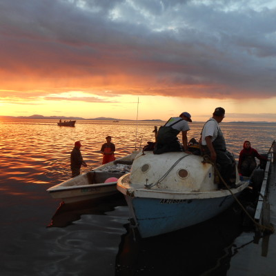 Fishermen in Kotzebue Sound