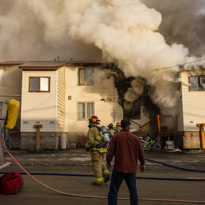 Fire at East 3rd Avenue, Nome, Sep. 2014