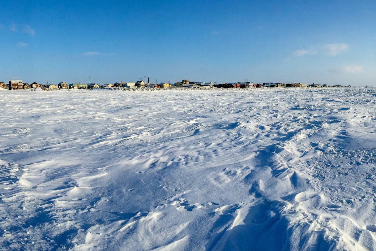 Nome, Alaska, from the frozen Bering Sea