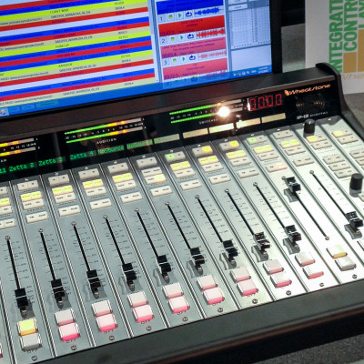 Sound board at NAB 2015