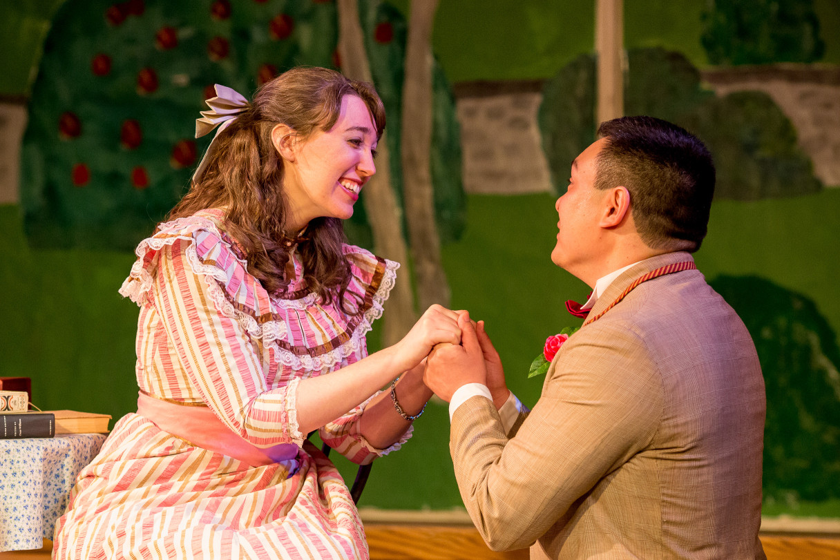 Courtney with Jake Kenick in a scene from The Importance of Being Earnest