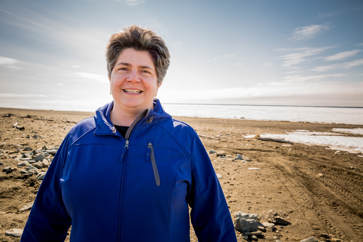 Betsy Brennan on Nome's Middle Beach