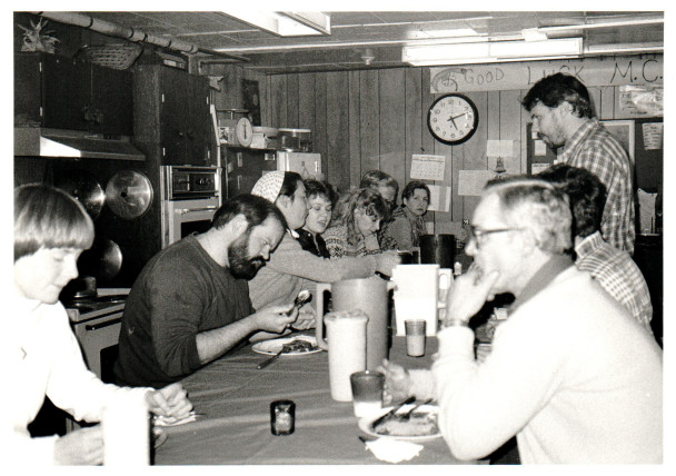 KNOM volunteer going-away party, circa 1984