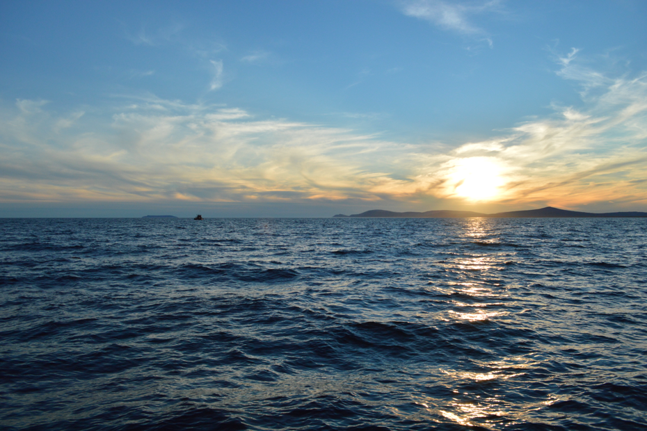 Sunset after a day of crabbing in Norton Sound. July 2014.