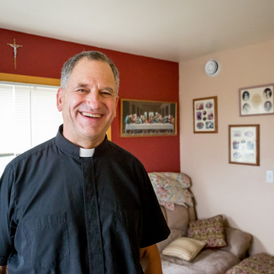 Father Mark in Nome, August 2015