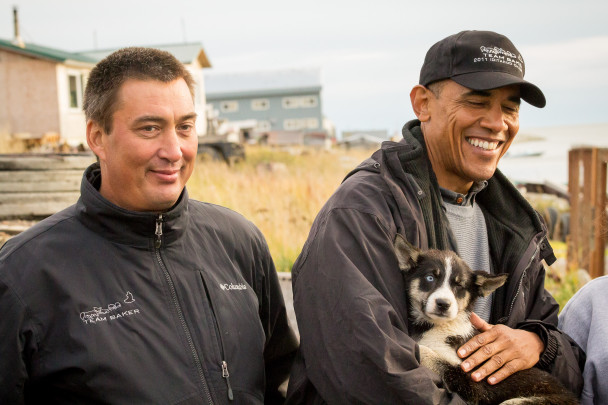 Obama with Baker and Feather