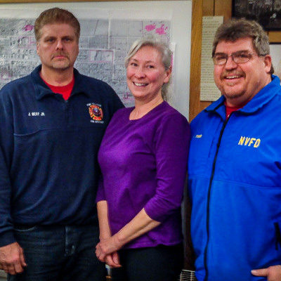 Denise Michels (center) at a Nome City Council Meeting in 2014. Photo: Matthew F. Smith, KNOM.