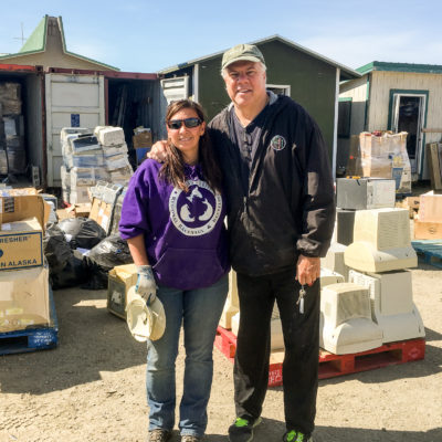 Anahma and Ric at Nome e-Waste Pickup 2016