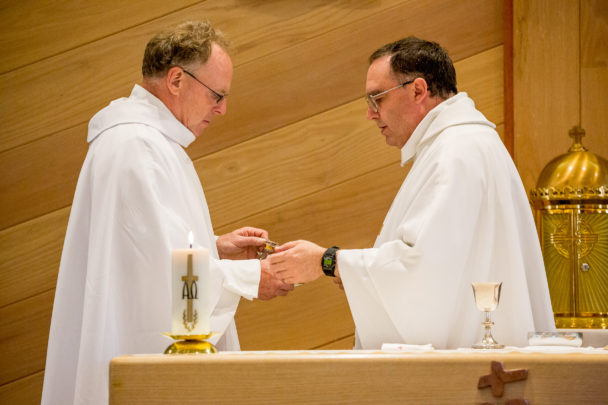 Fr. Ross and Fr. Tom at the altar
