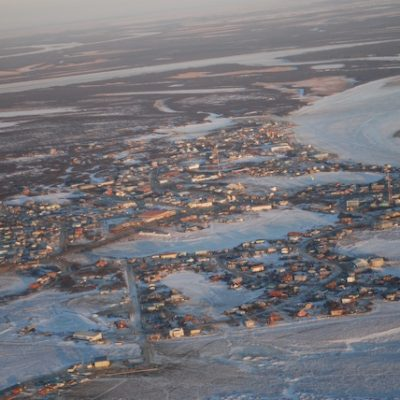 Aerial view of Bethel, Alaska