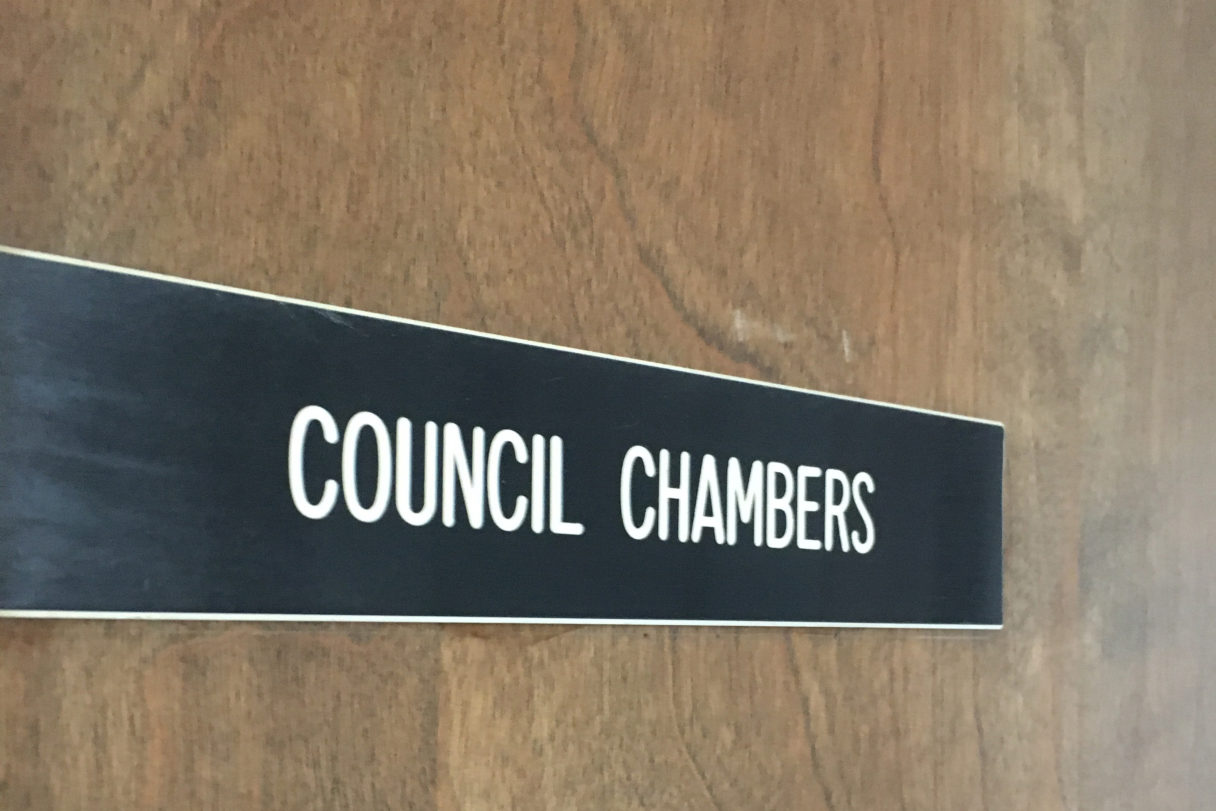 City of Nome Council Chambers. Photo: Margaret DeMaioribus; KNOM