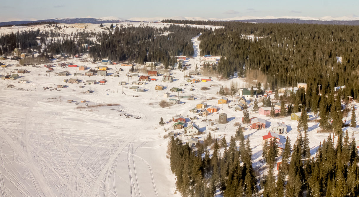 An aerial overview of White Mountain