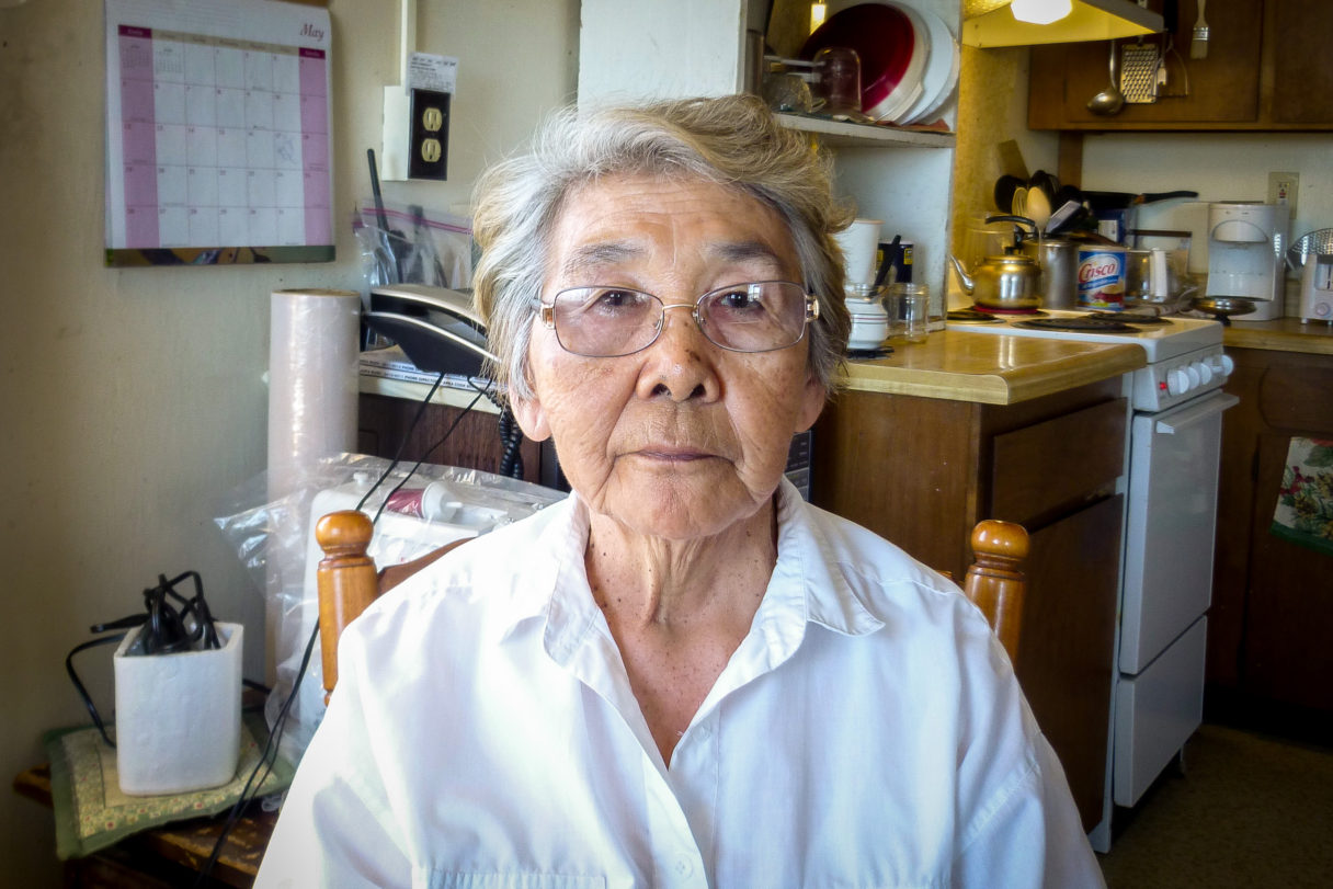 Community elder Betty Segock in her home in Elim, Alaska.