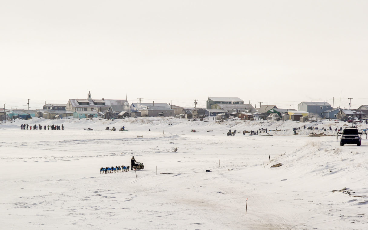 Rick Casillo mushing out of Unalakleet.