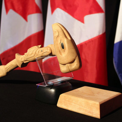 This is the gavel used by the Chairman of Senior Arctic Officials at Arctic Council meetings. This gavel was presented to Finland for its new chairmanship of the Arctic Council (2017-2019). Photo Credit: Arctic Council Secretariat / Linnea Nordström