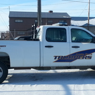 A Trooper vehicle parked in Nome. Photo Credit: Davis Hovey, KNOM (2017)