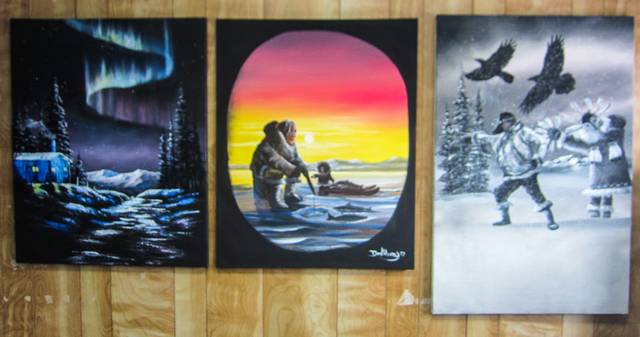 Three Don Henry paintings
