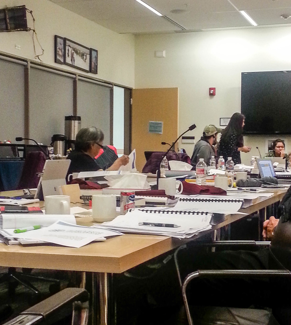 The Board room where NSHC's Board of Directors held their 47th annual meeting. Photo credit: Davis Hovey, KNOM (2017)