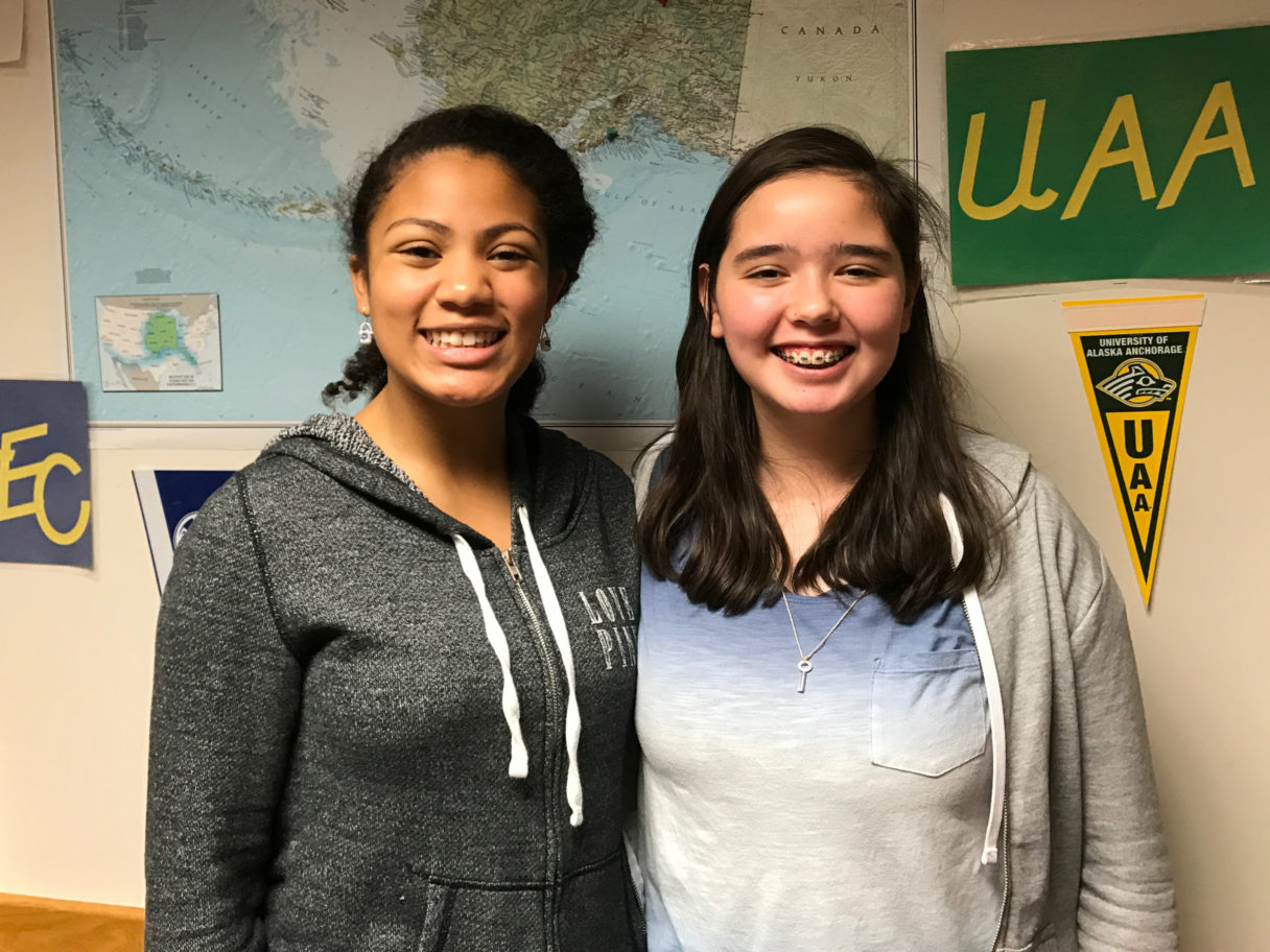 Victoria Fisher and Lauryn Nanouk Jones in Unalakleet, 2017.