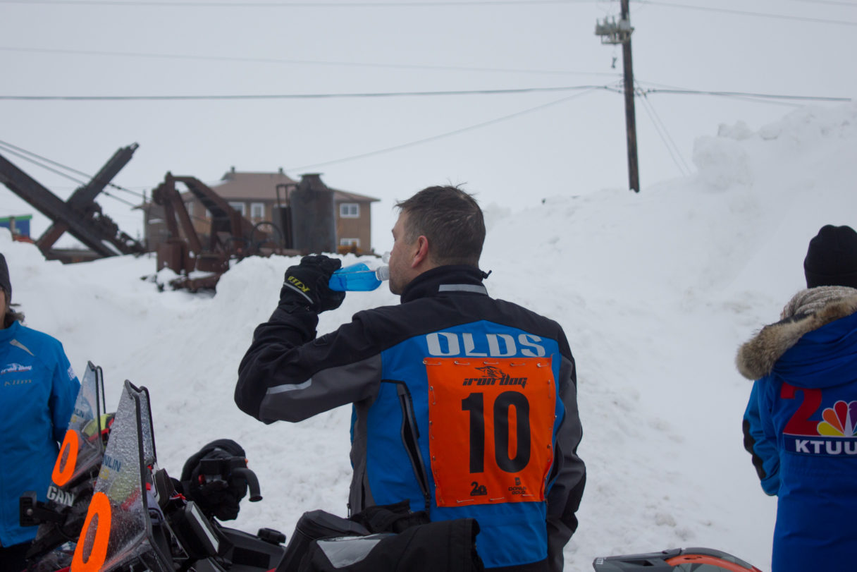 Chris Olds at Halfway-finish in Nome, Iron Dog 2018.