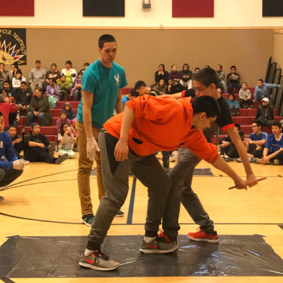 Competitors in the Indian Stick Pull during the 33rd Annual BSSD NYO.