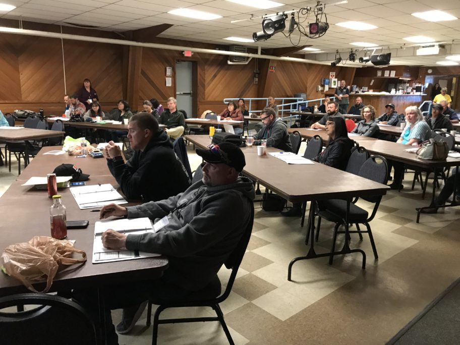Bering Straits communities sent representatives to this rural resiliency workshop. Travel costs were covered by DHSEM. Photo credit: Zoe Grueskin, KNOM (2018)