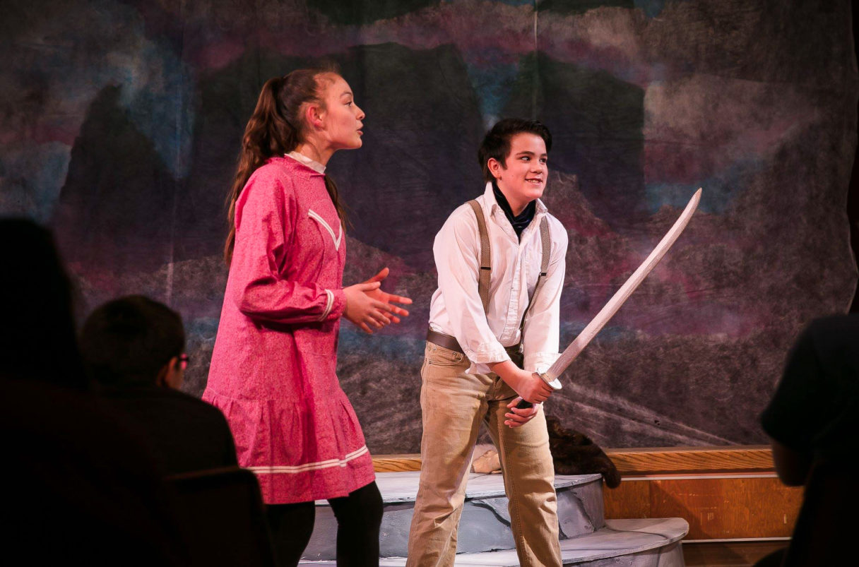 """Nome youth Andrew Hafner during a local production of Shakespeare's """"The Tempest."""""""