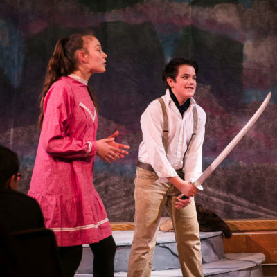 "Nome youth Andrew Hafner during a local production of Shakespeare's ""The Tempest."""