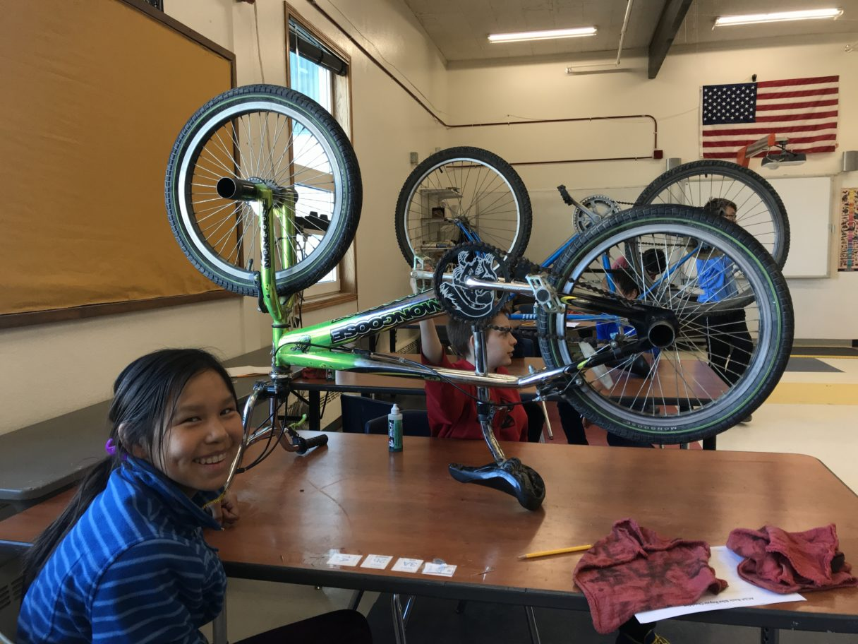 Can It Be Fixed? A Nome Workshop Encourages Kids To Salvage Bikes