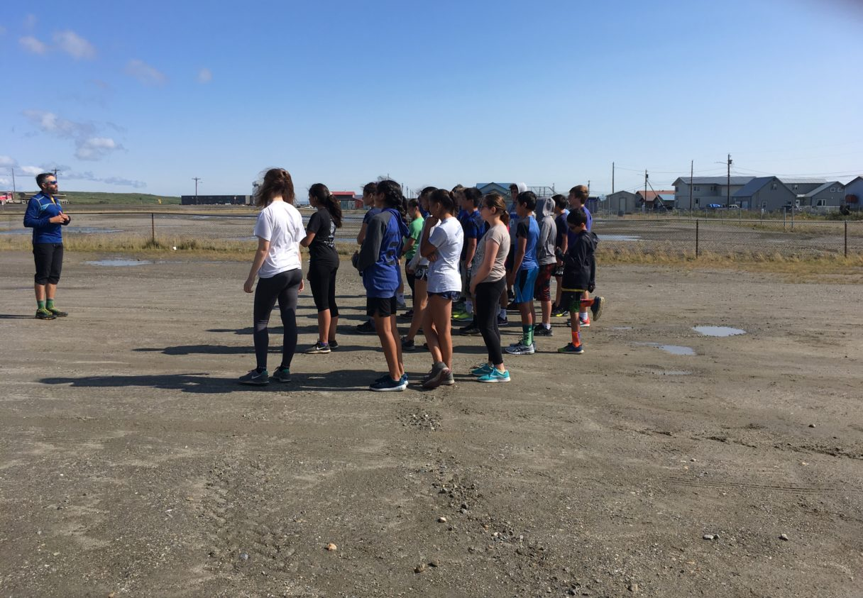 Nome Jr High Cross Country Team First Practice of 2019 Season