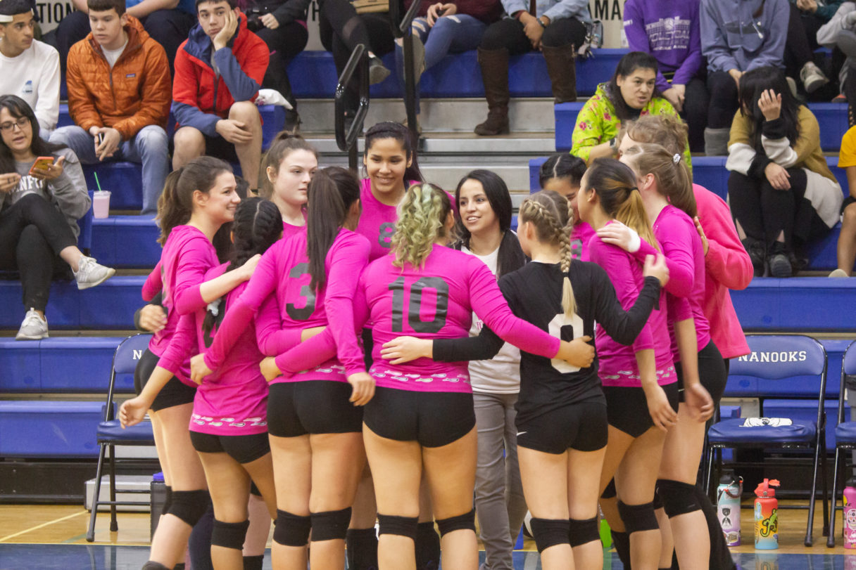 Nome's high school girls' volleyball team.