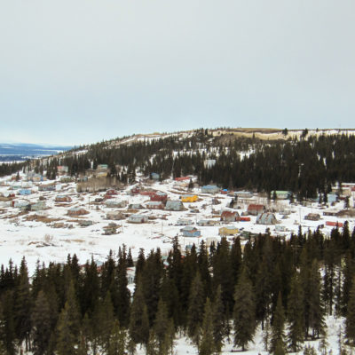 A photo of the village of White Mountain.